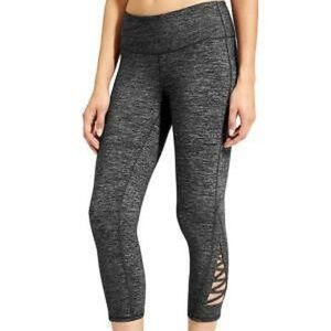 NWOT Athleta Gray Criss-Cross Chaturanga Leggings